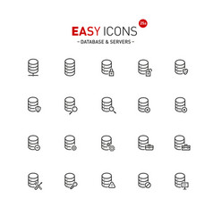 easy icons 25a database vector image