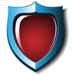 3d heraldic badge vector image
