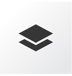 layer icon symbol premium quality isolated level vector image