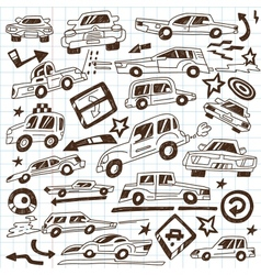Cars - doodles vector