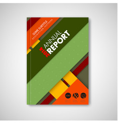 Brochure front page template with material design vector