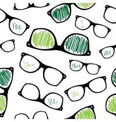 Hipster symbols background pattern for fabric vector