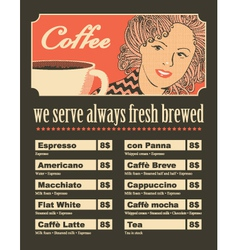 women coffee vector image