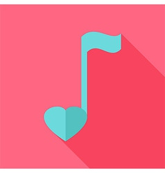 Sheet music with heart vector