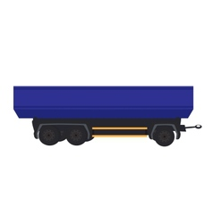 Large car trailer vector