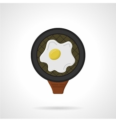 Fried egg flat colored icon vector