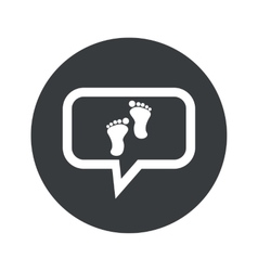 Round dialog footprint icon vector