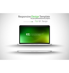 notebook PRO green vector image