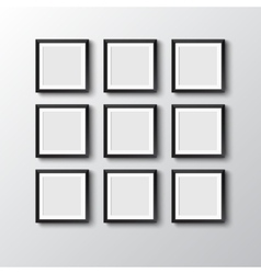 Six frames hang on wall vector