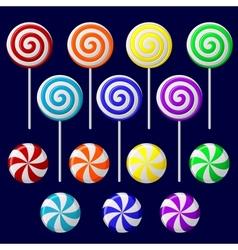 delicious lollipop collection vector image
