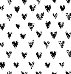 Grunge hearts ornament vector