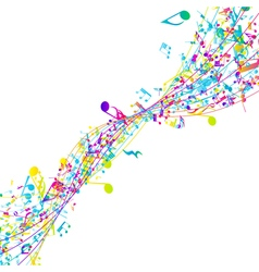 Multicolor musical design vector