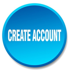 Create account blue round flat isolated push vector