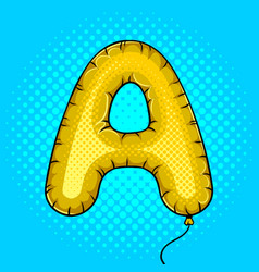 air balloon in shape of letter a pop art vector image