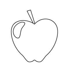 Apple taste fruit nature outline vector
