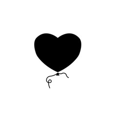 balloon heart and love solid icon valentines day vector image vector image