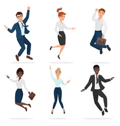 business happy people celebrating a victory vector image vector image