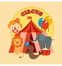 Circus poster flat vector