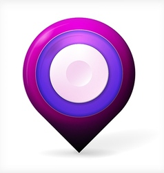 Colored realistic icon for marker geolocation vector