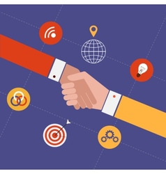 Concept for partnership and team work vector image vector image