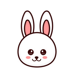 cute bunny rabbit face modern vector image
