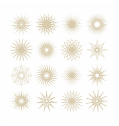 Geometrical poly gram beige stars icons set vector