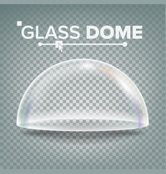 Glass dome exhibition design element half vector