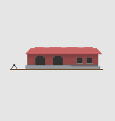 Goods shed vector