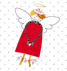 happy love angel vector image