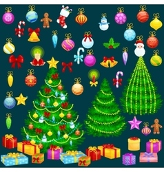 Holiday christmas tree isolated decoration for vector