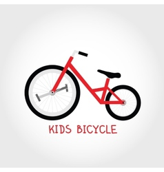 Kids bicycle vector