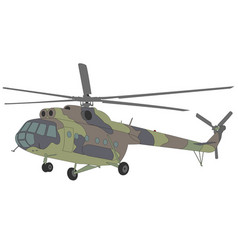 Mi-8 helicopter vector