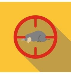 Mole icon flat style vector
