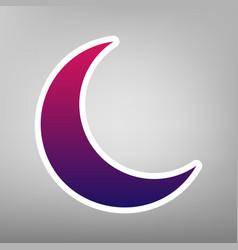 Moon sign purple gradient vector