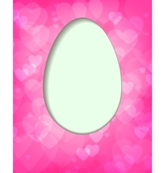 pink design with Easter egg vector image vector image