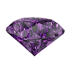 Purple amethyst isolated on white background vector