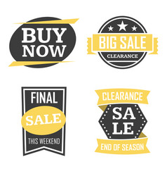 Season sale badges and tags design set for vector