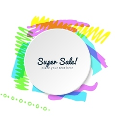 template of highlighter frame vector image