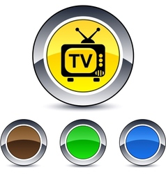 tv round button vector image