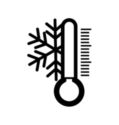 Weather instrument design isolated thermometer vector image