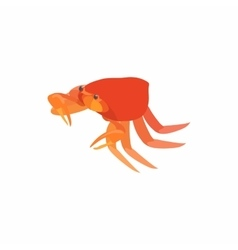 Crab with small claws icon cartoon style vector