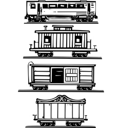 Train car collection vector