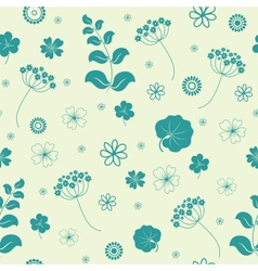 Garden flowers and herbs seamless background vector
