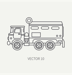 line flat plain icon armored wagon army vector image