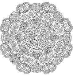 Round mandala decorative floral element vector