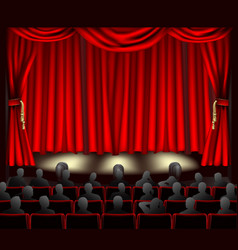 Theatre with audience vector