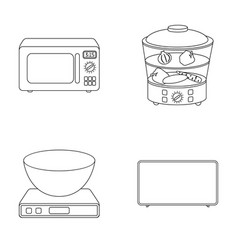 Steamer microwave oven scales lcd tvhousehold vector