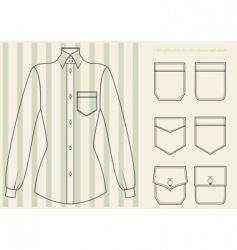 classic shirt vector image