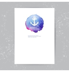 Brochure template with anchor logo vector