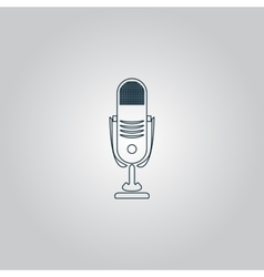 Simple retro microphone vector